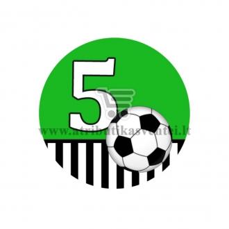 Gimtadienio ženkliukas - Futbolas 5m.