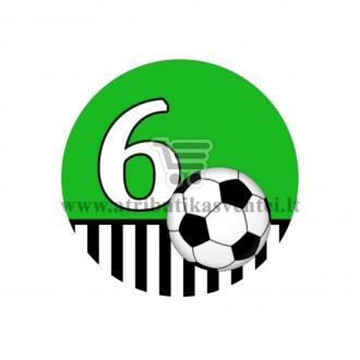 Gimtadienio ženkliukas - Futbolas 6m.