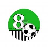 Gimtadienio ženkliukas - Futbolas 8m.