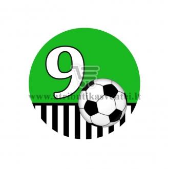 Gimtadienio ženkliukas - Futbolas 9m.