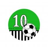 Gimtadienio ženkliukas - Futbolas 10m.