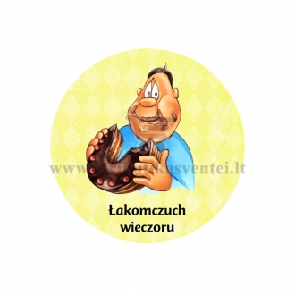 """Ženkliukas su nominacija """"Łakomczuch  wieczoru"""""""