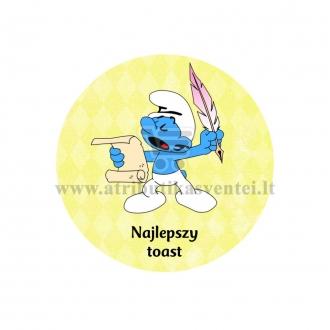 """Ženkliukas su nominacija """"Najlepszy  toast"""""""