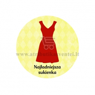 "Ženkliukas su nominacija ""Najładniejsza  sukienka"""