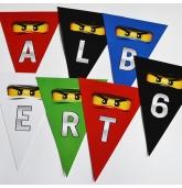 """Popierinė vėliavėlių girlianda """"Lego Ninjago"""""""