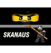 """Maža etiketė """"Lego Ninjago"""" Juoda-Skanaus"""