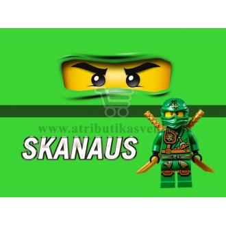 """Maža etiketė """"Lego Ninjago"""" Žalia-Skanaus"""