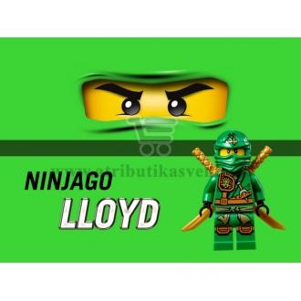 """Maža etiketė """"Lego Ninjago"""" Žalia-Lloyd"""