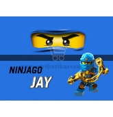 "Maža etiketė ""Lego Ninjago"" Mėlyna-Jay"