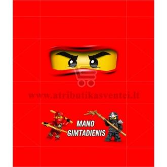 """Saldainių popieriukai 15 vnt """"Lego Ninjago"""" Raudona"""