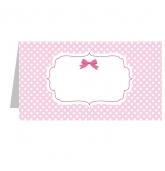 Stalo kortelė, Angeliukas (rožinė)