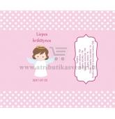 Saldainių popierėliai 15 vnt, Angeliukas  (rožinė)