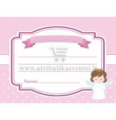 Profesijos spėjimo kortelė, Angeliukas (rožinė)