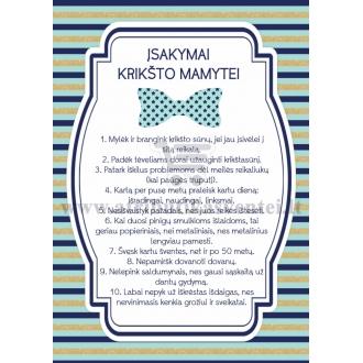 Įsakymai krikšto mamytei, Mažasis džentelmenas