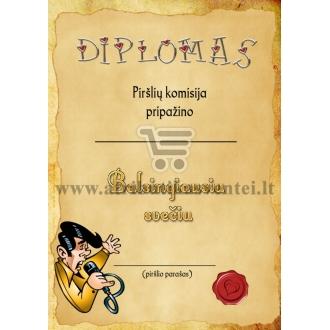"""Diplomas """"Balsingiausias svečias"""""""