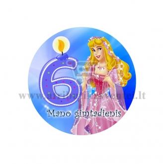 """Ženkliukas """"Mano gimtadienis"""" Princesė 6m."""