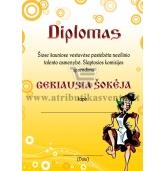 """Diplomas """"Geriausia šokėja"""""""