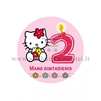 """Ženkliukas """"Mano gimtadienis"""" Hello Kitty 2m."""
