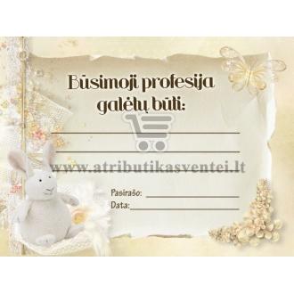 Profesijos spėjimo kortelė