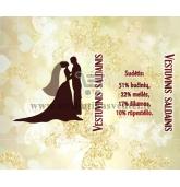 Saldainių popierėliai vestuvėms