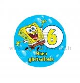 """Ženkliukas """"Mano gimtadienis"""" Kempiniukas Plačiakelnis 6m."""