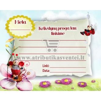 Palinkėjimų kortelė (mergaitei)