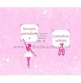 Saldainių popieriukai su balerinos atvaizdu 15 vnt