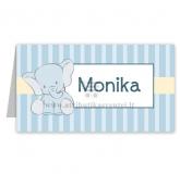 """Stalo kortelė """"Mėlynas drambliukas"""""""