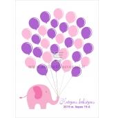"""Svečių paveikslas """"Rožinis drambliukas"""""""