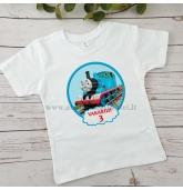 """Gimtadienio marškinėliai - """"Traukinukas Tomas"""""""