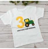 """Marškinėliai teminiam gimtadieniui """"Traktoriai"""""""
