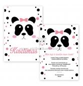 """Kvietimai į gimtadienį """"Panda"""""""