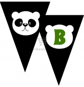 """Popierinė vėliavėlių girlianda """"Panda"""""""