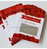 """Personalizuota vestuvių loterija """"Red roses"""""""