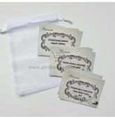 Vestuvių pažadų kortelės (15 kortelių)