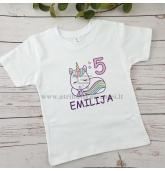 Gimtadienio marškinėliai su Vienaragiu
