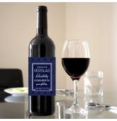 """Etiketė vyno buteliui - """"Kad verslas klestėtų..."""""""