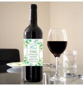 Etiketė vyno buteliui - Su Boso diena